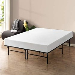 Best Price Mattress 10″ Memory Foam Mattress and 14″ Premium Steel Bed Frame/Foundat ...