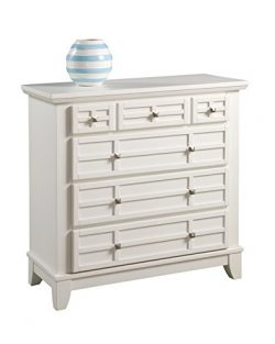 Home Styles 5182-41 Arts and Crafts Four Drawer Chest, White Finish