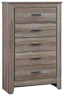 Ashley Furniture Signature Design – Zelen Chest of Drawers – 5 Drawer Dresser – ...