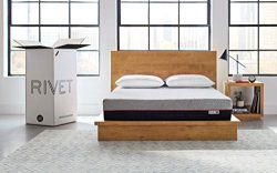 Rivet Queen Mattress – Energy Boosting Celliant Cover, Responsive 3-layer Memory Foam for Suppor ...
