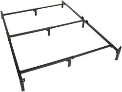 Amazon Basics 9-Leg Support Metal Bed Frame – Strong Support for Box Spring and Mattress S ...