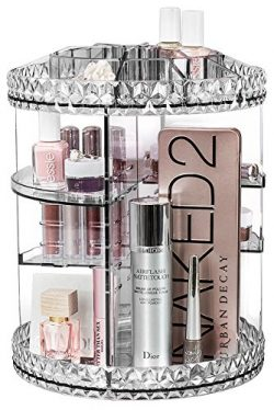 Sorbus Rotating Makeup Organizer, 360° Rotating Adjustable Carousel Storage for Cosmetics, Toile ...