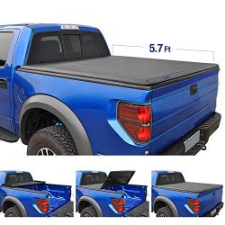 Tyger Auto T3 Tri-Fold Truck Tonneau Cover TG-BC3D1044 Works with 2019 1500 New Body Style | Wit ...