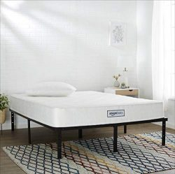 AmazonBasics Coil Mattress in a Box – Features Individual Pocket Spring for Motion Isolati ...