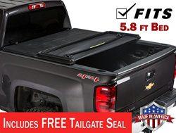 Gator ETX Soft Tri-Fold Truck Bed Tonneau Cover | 59109 | Chevy Silverado/GMC Sierra 5.5′  ...