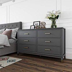 Westerleigh 6 Drawer Dresser, Graphite Gray – Graphite Grey