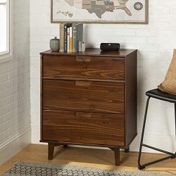WE Furniture AZR3DSLDRWT Dresser, Walnut