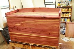 Cedar storage chest, cedar chest, hope chest, storage chest, wooden chest