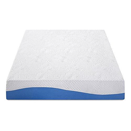 "PrimaSleep Wave Gel Infused Memory Foam Mattress, 10"" H, Twin, Blue"