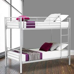 LAGRIMA Bunk Bed Frame Twin Over Twin – Easy Assembly – Bedroom Furniture with Remov ...