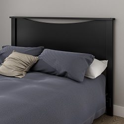 South Shore Step One Headboard, Full/Queen 54/60-Inch, Pure Black