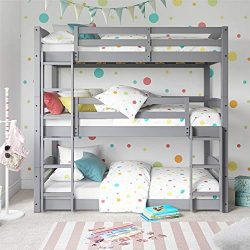 Dorel Living FZ7891TBBG Phoenix Triple Bunk Bed, Gray