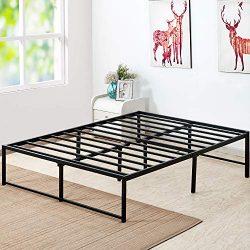 VECELO 14 Inch Platform Bed Frame/Mattress Foundation/No No Box Spring Needed/Steel Slat Support ...