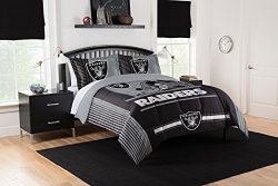 Officially Licensed NFL Oakland Raiders Safety Full/Queen Comforter and 2 Sham Set