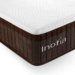 Inofia Full Mattress, Bed in a Box, Sleeps Cooler with More Pressure Relief & Support Than M ...