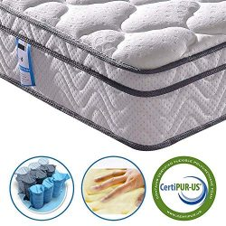 Vesgantti 10.2 Inch Twin XL Multilayer Hybrid Mattress, Bed in a Box, Medium Firm Plush Feel- Me ...
