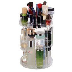 Rotating Makeup Organizer, 360 Rotating Crystal Cosmetic Storage 6 Layers Adjustable Great Capac ...