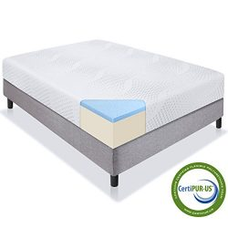 Best Choice Products 10″ Dual Layered Gel Memory Foam Mattress Queen CertiPUR-US