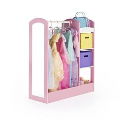 Guidecraft See and Store Dress-up Center – Pastel: Toddlers' Clothing Rack Wardrobe  ...