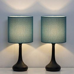 HAITRAL Bedside Table Lamps – Nightstand Lamps Set of 2, Modern Desk Lamp for Bedroom, Liv ...