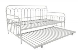 Novogratz Bright Pop Twin Metal Daybed and Trundle, Stylish & Multifunctional, Built-in Cast ...