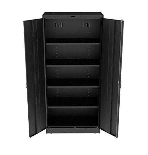 Tennsco 7824 Heavy Gauge Steel Deluxe Welded Storage Cabinet, 5 Shelves, 200 lbs Capacity per Sh ...