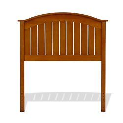 Leggett & Platt Finley Wood Headboard Panel with Curved Top Rail and Slatted Grill Design, M ...