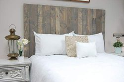 Coastal Gray Headboard King Size Stain, Hanger Style, Handcrafted. Mounts on Wall. Easy Installation