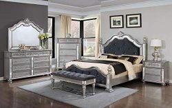 GTU Furniture Kenton Panel Wooden 5Pc King Bedroom Set(K/D/M/N/C)