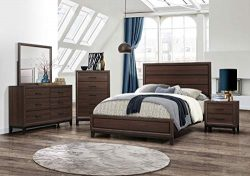 Kings Brand Furniture – Athens 6-Piece Queen Size Bedroom Set. Dresser, Mirror, Chest & 2 Ni ...