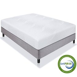 Best Choice Products 10″ Dual Layered Memory Foam Mattress Queen- CertiPUR-US Certified Foam