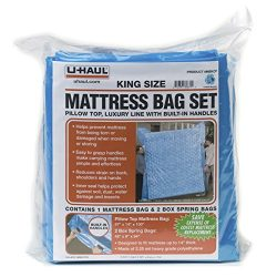 U-Haul King Mattress Bag Set – 1 Mattress Bag (100″ x 87″ x 14″) and 2 B ...