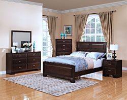 New Classic 00-143-300 Garrett Queen Bed, Chestnut