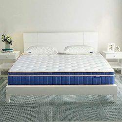 QueenMattress- Sweetnight Queen Size Gel Memory Foam Hybrid Mattress,8 Inch Individually Pocket ...