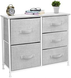 Sorbus Dresser with 5 Drawers – Furniture Storage Tower Unit for Bedroom, Hallway, Closet, ...