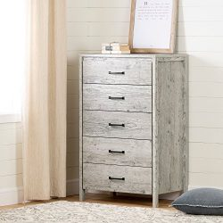 South Shore 11897 Gravity 5-Drawer Chest, 0, Seaside Pine