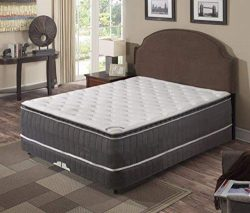 Spring Coil Mattress,Pillow Top ,Pocketed Coil, Orthopedic Full Size Mattress with 4-Inch Split  ...