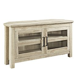 WE Furniture AZQ44CCRWO TV Console, 44″, White Oak