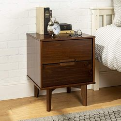 WE Furniture AZR2DSLNSWT nightstand, Walnut