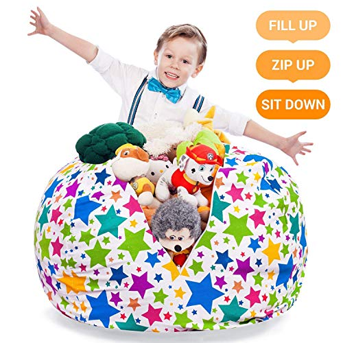 Stuffed Animal Storage Bean Bag Large Beanbag Chairs For