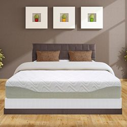 Best Price Mattress 11″ Gel-Infused Memory Foam Mattress & 7.5″ New Steel Box Sp ...