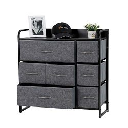 Kamiler 7-Drawer Dresser Storage Organizer Tower Unit for Bedroom, Hallway, Entryway, Closets &# ...