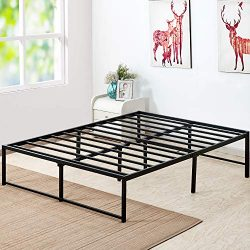 VECELO 14 Inch Platform Bed Frame/Mattress Foundation/No No Box Spring Needed/Steel Slat Support ...
