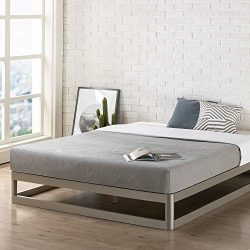 Mellow Full 9″ Metal Platform Bed Frame w/Heavy Duty Steel Slat Mattress Foundation (No Bo ...