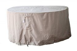 Dola Patio Round Outdoor Furniture Cover for Patio Dining & Daybeds Beige Waterproof in 3-La ...