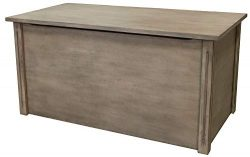 Large Gray Wooden Toy Box and Blanket Chest – All Wood – Optional Cedar Base