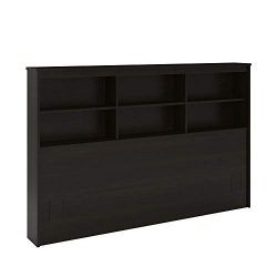 RealRooms Lacey Full/Queen Storage Headboard, Espresso