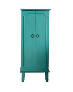 Alveare Home 9741-417 Cassidy Jewelry Armoire, Turquoise