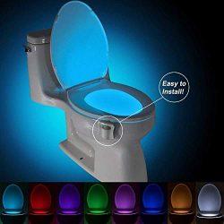 Multi-Color Motion Sensor LED Toilet Night Light – Light Detection Sensor- Cool New Fun Ga ...