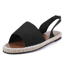 Espadrilles Sandals for Women,SMALLE◕‿◕ Women's Summer Retro Flat Ankle Strap Roman Sandal ...